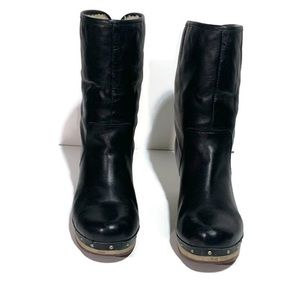 UGG Lynnea Ankle Boot 1958 Black Leather Boot US 8
